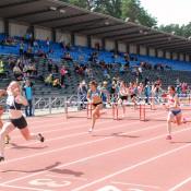 Кристина Клещева-победитель в беге на 100 метров сбаръерами.